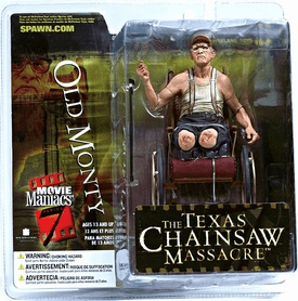 McFarlane Movie Maniacs 7 Texas Chainsaw Massacre Old Monty Figure