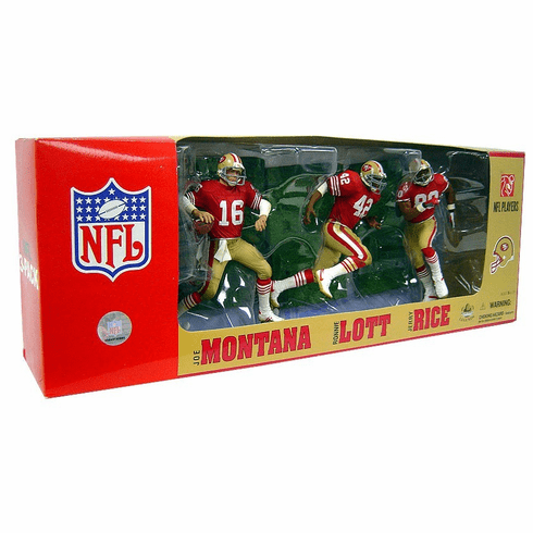 McFarlane NFL San Francisco 49ers 3 Figure Pack Set