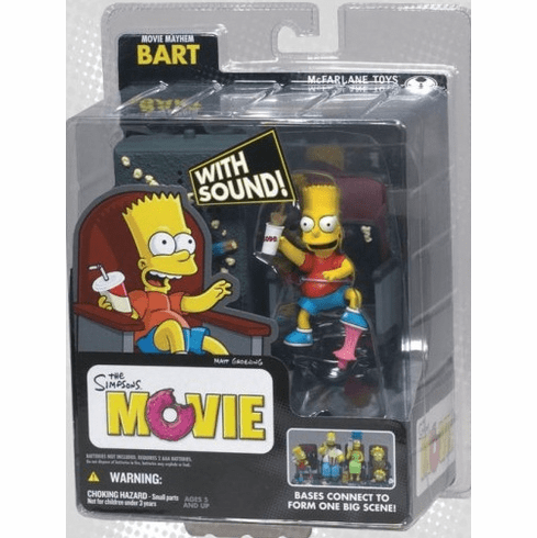 Mcfarlane The Simpsons Movie Mayhem Bart Figure