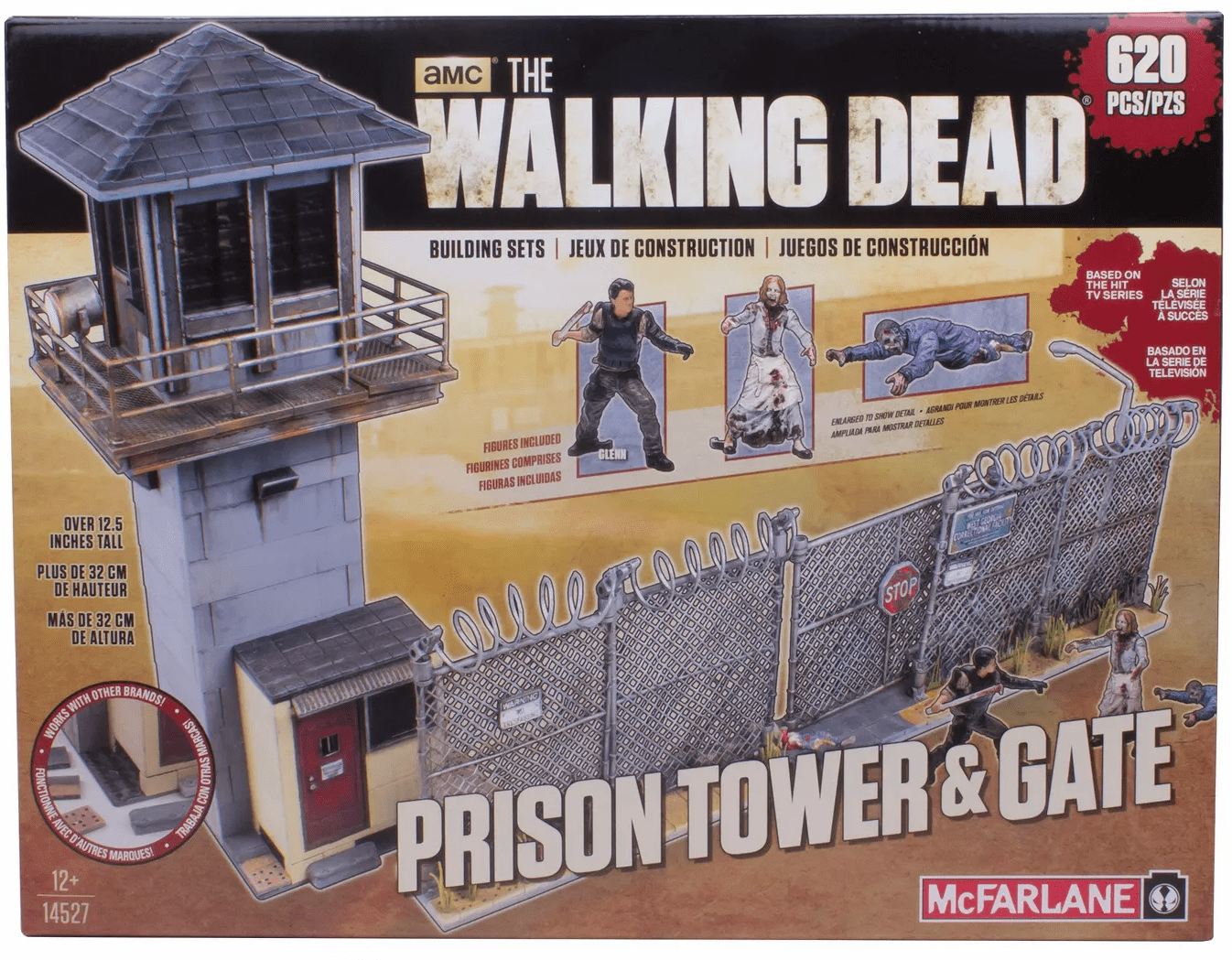 McFarlane The Walking Dead Prison Tower and Gate Construction Set