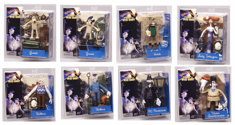 McFarlane Wallace & Gromit Curse of the Were-Rabbit Action Figure Set
