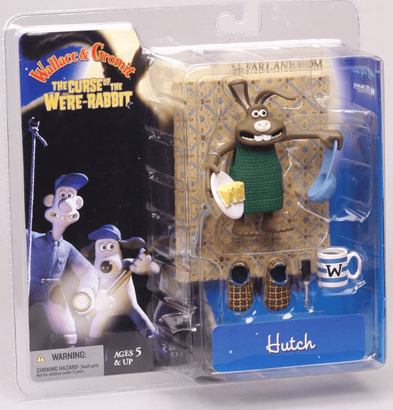 McFarlane Wallace & Gromit Hutch the Rabbit Action Figure