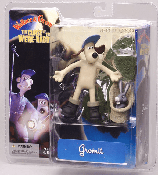 McFarlane Wallace & Gromit Rabbit Catcher Gromit Action Figure