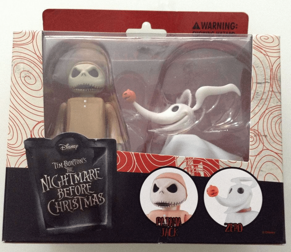 Medicom Nightmare Before Christmas Pajama Jack & Zero Kubrick Figure Set