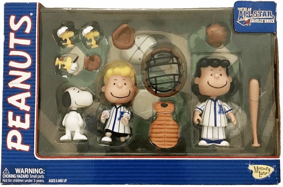 Memory Lane Peanuts All Star Charlie Brown Baseball Catcher Set
