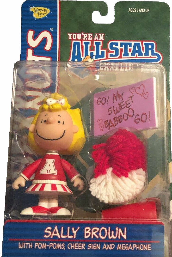 Memory Lane Peanuts All Star Charlie Brown Baseball Sally Figure
