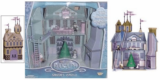 Memory Lane Rudolph the Red-Nosed Reindeer Santa's Castle Play Set