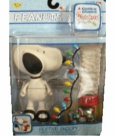 Memory Lane Toys Peanuts Charlie Brown Christmas Festive Snoopy Figure