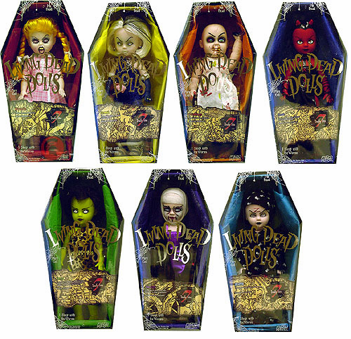 Mezco Living Dead Dolls Series 7 Deadly Sins Doll Set