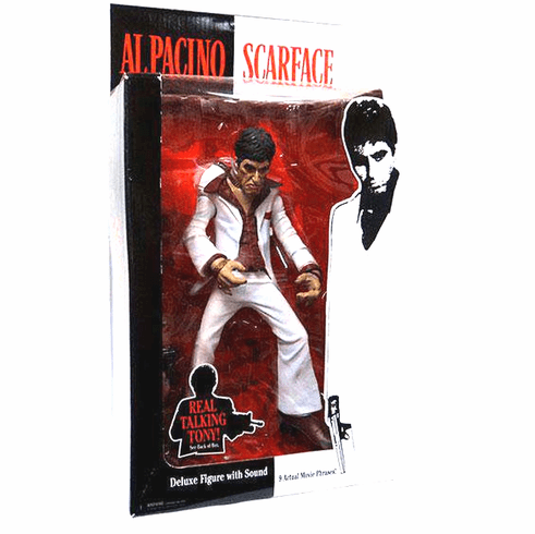 Mezco Scarface Real Talking Tony The Player Figure