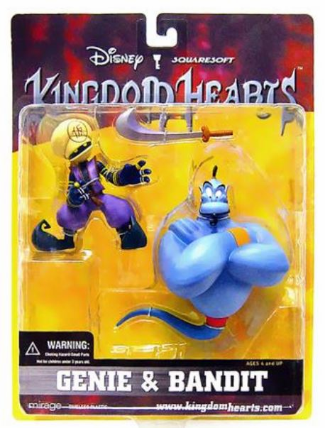 Mirage Disney Kingdom Hearts Genie & Bandit Action Figure Set