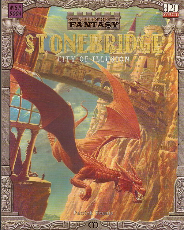 Mongoose Publishing Cities of Fantasy Stonebridge City of Illusion RPG Book