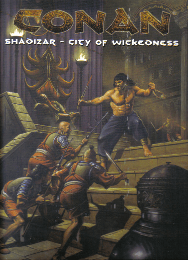 Mongoose Publishing Conan Shadizar City of Wickedness RPG Set