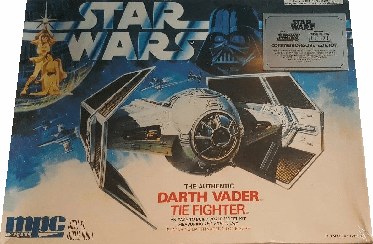 MPC/ERTL Star Wars Darth Vader Tie Fighter Model Kit
