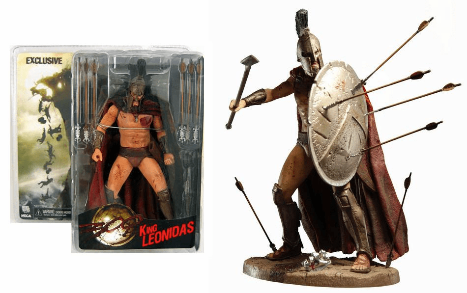 NECA 300 Bloody King Leonidas San Diego Comic Con Exclusive Figure