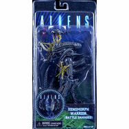 NECA Aliens Xenomorph Warrior Battle Damaged Blue Figure