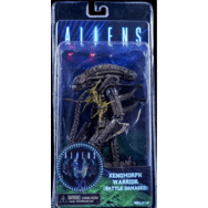 NECA Aliens Xenomorph Warrior Battle Damaged Brown Figure
