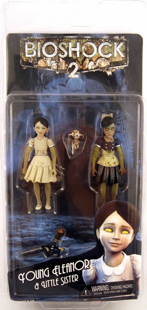 NECA Bioshock 2 Eleanor Lamb and Little Sister Action Figure Set