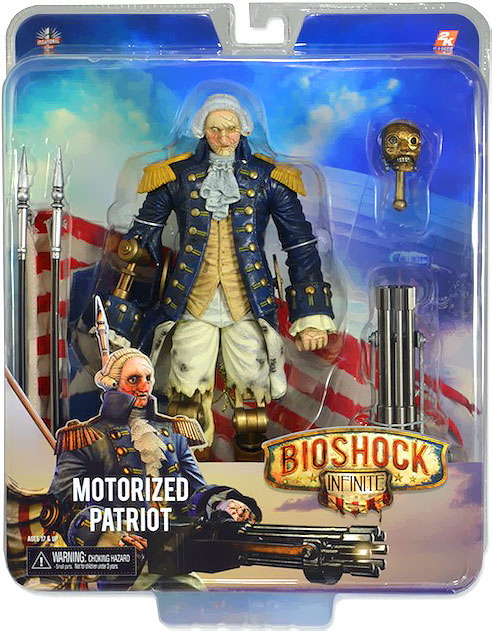 NECA Bioshock Infinite Motorized Patriot George Washington Figure