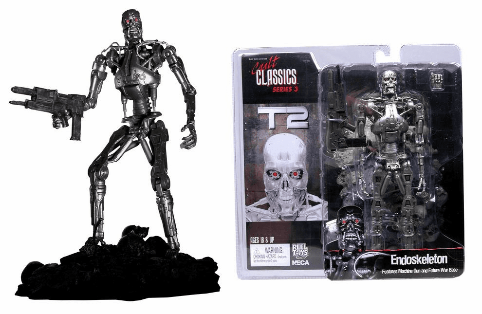 NECA Cult Classics Series 3 T-800 Endoskeleton Action Figure