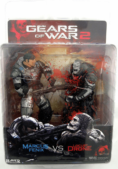 NECA Gears of War 2 Chainsaw Marcus vs Locust Drone Figure Set