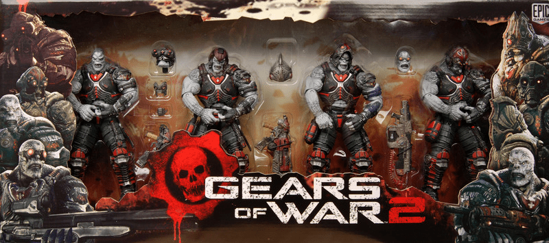 NECA Gears of War 2 Locust Hive Action Figure Box Set