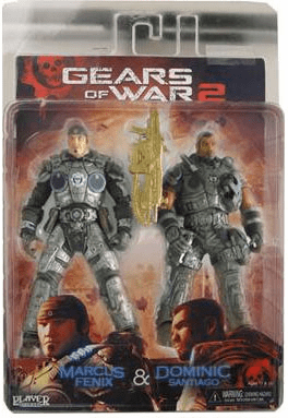 NECA Gears of War 2 Marcus Fenix & Dominic Santiago 2-Pack Figure Set