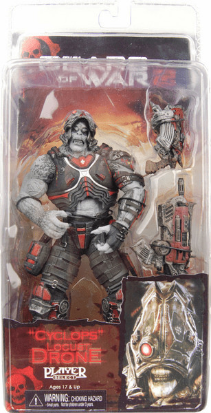 NECA Gears of War 2 Series 3 Locust Drone Cyclops Action Figure