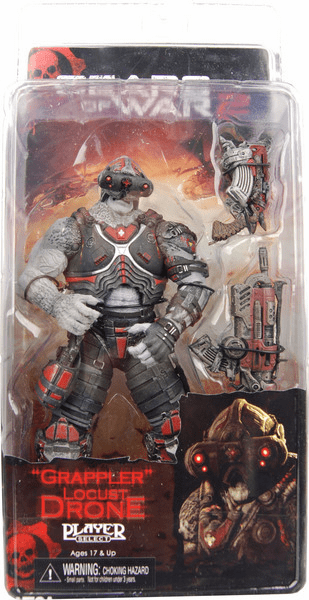 NECA Gears of War 2 Series 3 Locust Drone Grappler Action Figure