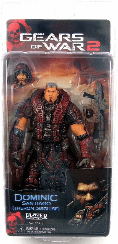 NECA Gears of War 2 Theron Disguise Dominic Santiago Figure