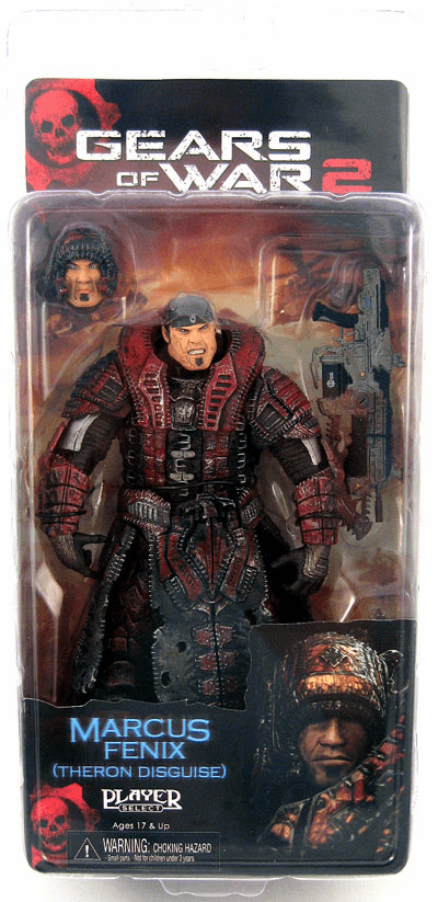 NECA Gears of War 2 Theron Disguise Marcus Fenix Figure