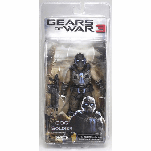 NECA Gears of War 3 COG Soldier Action Figure