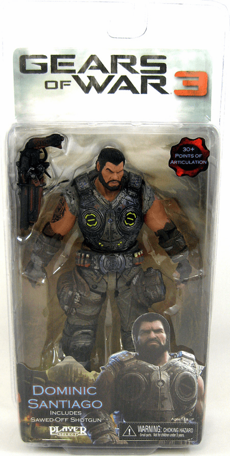 NECA Gears of War 3 Dominic Santiago Action Figure