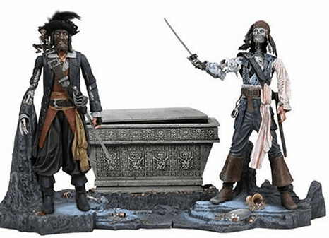 NECA Pirates of the Caribbean Cursed Barbossa vs Cursed Sparrow Box Set