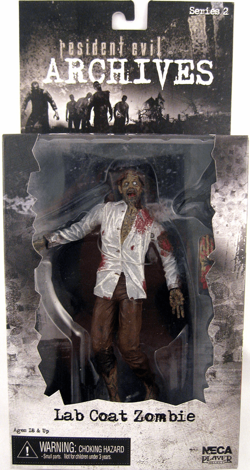 NECA Resident Evil Archives Lab Coat Zombie Action Figure