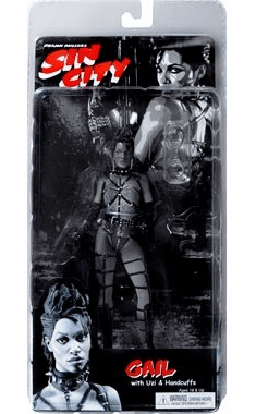 NECA Sin City Black and White Gail Action Figure