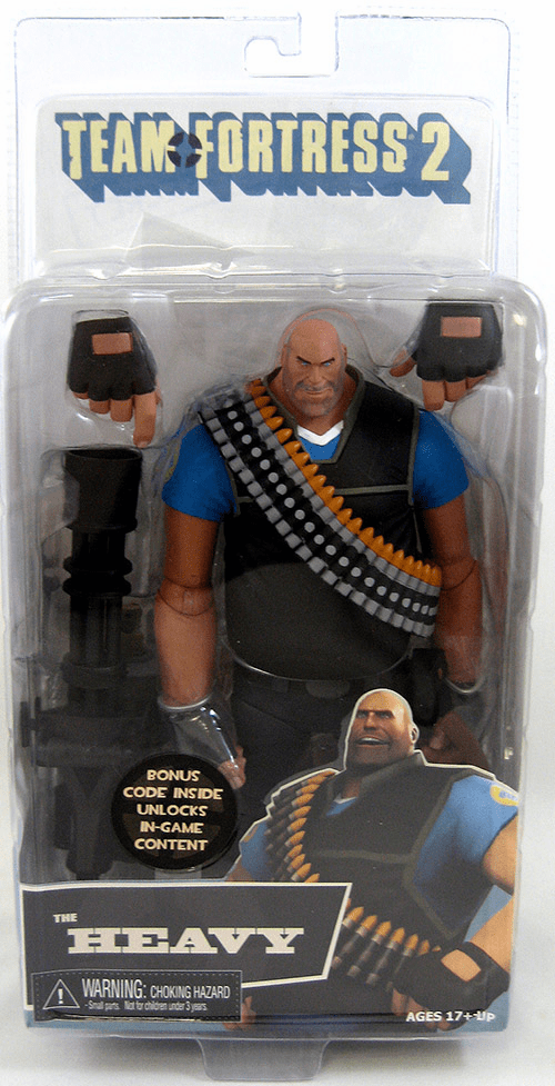 NECA Team Fortress 2 Blue Heavy Action Figure