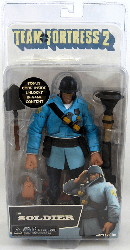 NECA Team Fortress 2 Blue Soldier Action Figure