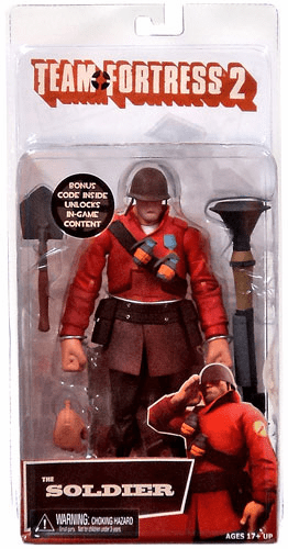NECA Team Fortress 2 Red Soldier Action Figure