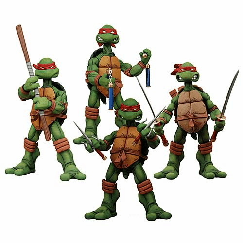 NECA Teenage Mutant Ninja Turtles Action Figure Set