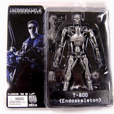 NECA Terminator 2 Endoskeleton with Plasma Rifle Action Figure