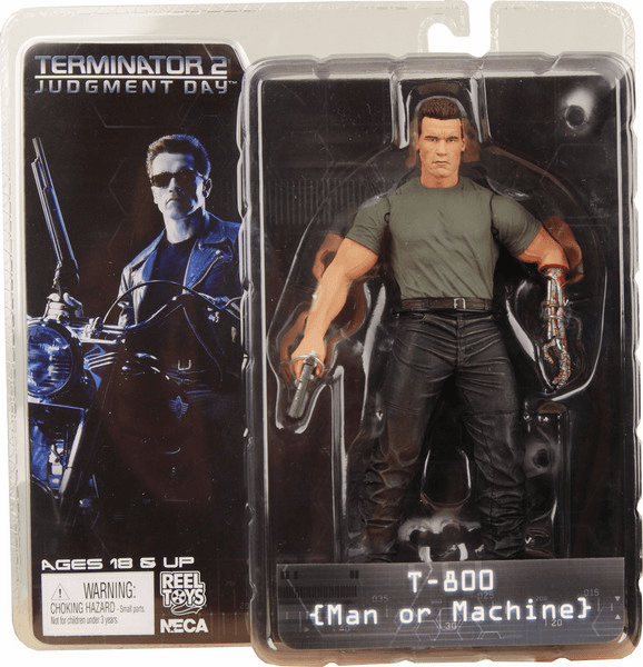 NECA Terminator 2 T-800 Man or Machine Action Figure