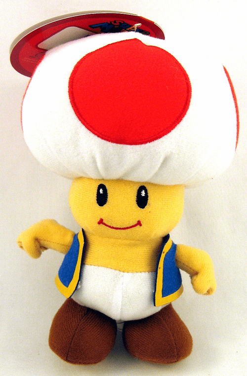 Nintendo Super Mario Brothers Toad Plush Toy
