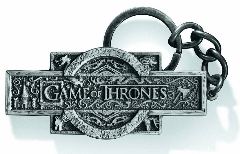 Noble Collection Game of Thrones Logo Metallic Key Chain