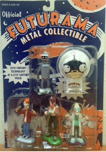 Official Futurama Metal Collectible Figures with Nibbler Clicker