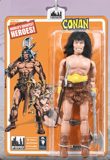 Official World's Greatest Heroes Conan The Barbarian Figure