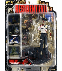 Palisades Resident Evil White Zombie Cop Action Figure