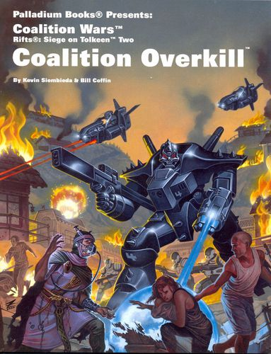 Palladium Rifts Siege on Tolkeen 2 Coalition Overkill RPG Book