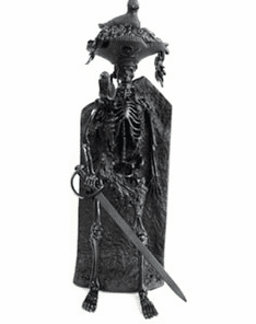 Pirates of the Caribbean Bird Head Skeleton Black Gold Edition Figure