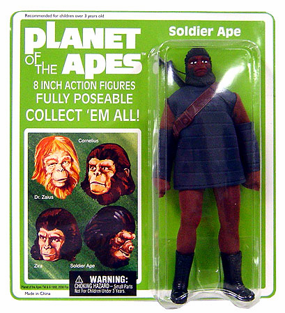 Planet of the Apes Retro Cloth Mego Soldier Ape Action Figure